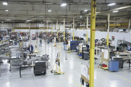 Production floor at Rennco Packaging