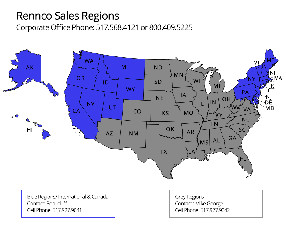 Rennco Sales Map
